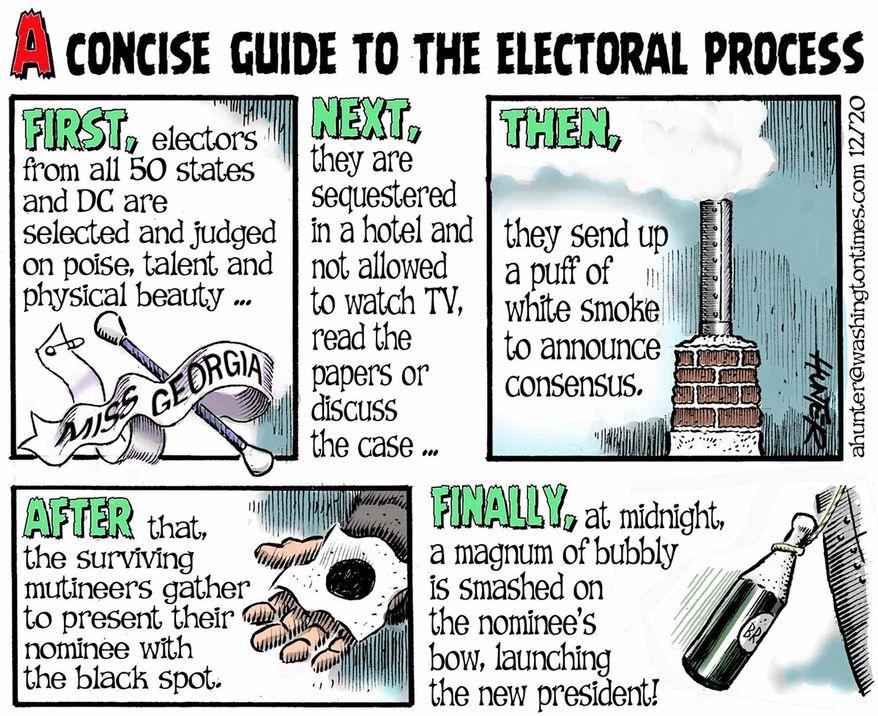 Illustration by Alexander Hunter for The Washington Times (published December 9, 2020)