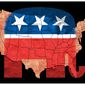 Illustration on Republican victories in the states by Alexander Hunter/The Washington Times