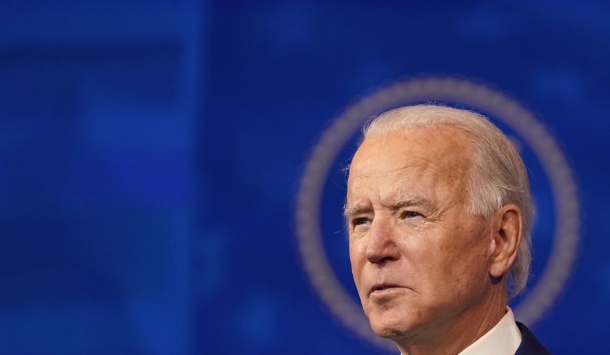 President-elect Joe Biden speaks during an event to announce his choice of retired Army Gen. Lloyd Austin to be secretary of defense, at The Queen theater in Wilmington, Del., Wednesday, Dec. 9, 2020. (AP Photo/Susan Walsh)