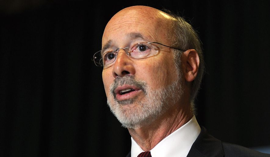 In this May 24, 2017, file photo, Pennsylvania Gov. Tom Wolf appears at an event in Erie, Pa. Gov. Wolf said Wednesday, Dec. 9, 2020, that he has tested positive for COVID-19 and is isolating at home. The second-term Democrat said a routine test on Tuesday detected the coronavirus. (Christopher Millette/Erie Times-News via AP, File)