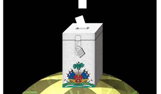Haiti vote illustration by The Washington Times