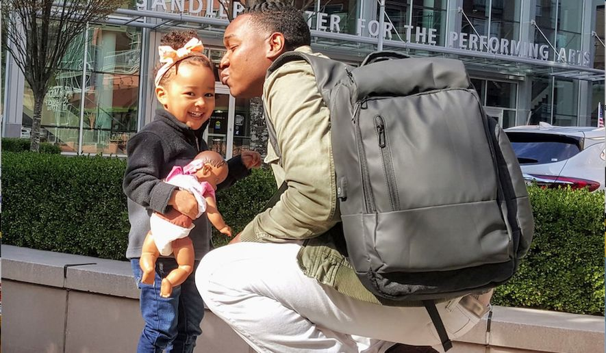 Retail strategist and father Kwame White has redesigned the diaper bag to include space for a laptop computer, charging ports and other tactical  features. (Image courtesy fo W.S.E.L Bags)