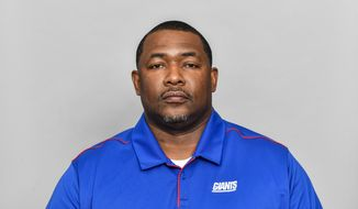 FILE - In this March 5, 2020, file photo, Patrick Graham, of the New York Giants NFL football team, poses for a photo in East Rutherford, N.J. The way the Giants defense has played this season, coordinator Graham is almost certainly going to be considered for some head coaching jobs at the end of the season. The 41-year-old Graham has transformed a defense that gave up 451 points last season into one that is now ranked 10th in the league and fourth against the run. (AP Photo/File)