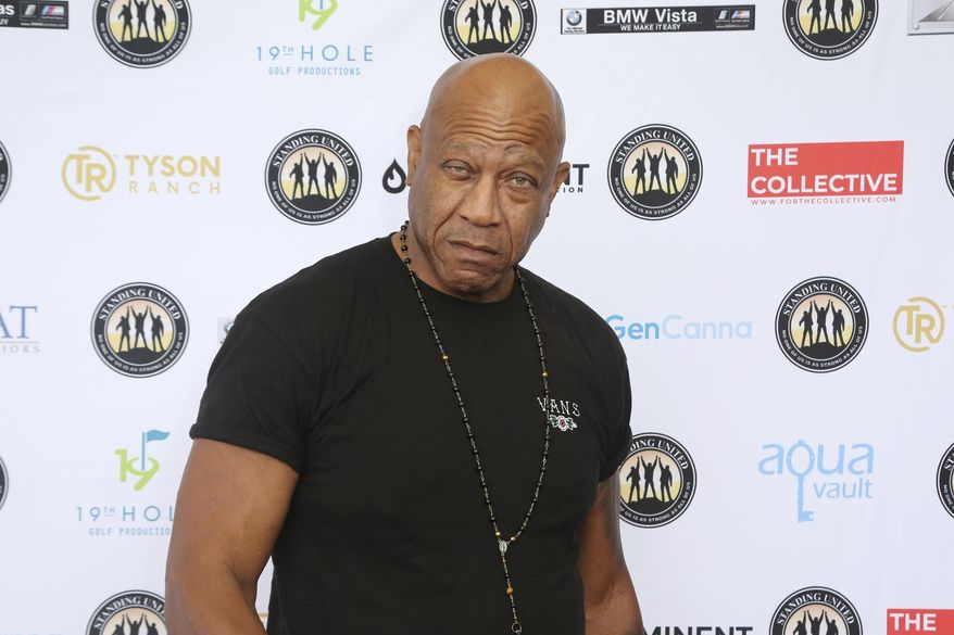 """In this Friday, Aug. 2, 2019, file photo, Tommy """"Tiny"""" Lister attends the Mike Tyson Standing United and the Tyson Ranch Celebrity Golf Tournament in Dana Point, Calif. Lister, a former wrestler who was known for his Deebo character in the """"Friday"""" films, has died. He was 62. Lister manager, Cindy Cowan, said Lister was found unconscious in his home in Marina Del Rey, California, on Thursday, Dec. 10, 2020. He was pronounced dead at the scene. (Photo by Willy Sanjuan/Invision/AP, File)"""