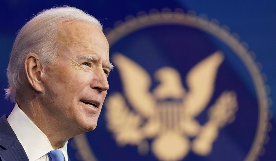 Presumptive President-elect Joe Biden announces his choice for several positions in his administration during an event at The Queen theater in Wilmington, Del., Friday, Dec. 11, 2020. (AP Photo/Susan Walsh) **FILE**