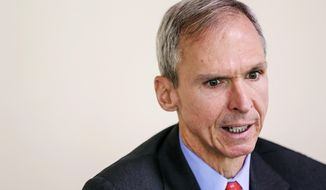 ADVANCE FOR PUBLICATION ON SATURDAY, DEC. 12, AND THEREAFTER - U.S. Rep. Dan Lipinski, D-Western Springs, speaks with the Herald-News, Friday, Aug. 17, 2018, in Joliet, Ill. Lipinski has represented the 3rd District in Congress since 2005, but he lost his bid for re-election in March 2020 after losing to Marie Newman in the Democratic primary. (Eric Ginnard/The Herald-News via AP)