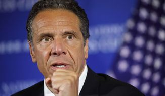 New York Gov. Andrew Cuomo speaks during a news conference at the National Press Club in Washington. (AP Photo/Jacquelyn Martin, File)