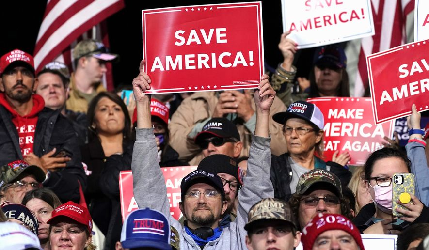 A survey found that 36% of all likely U.S. voters believe court challenges of voting results in several states will yield a victory for President Trump. (Associated Press)