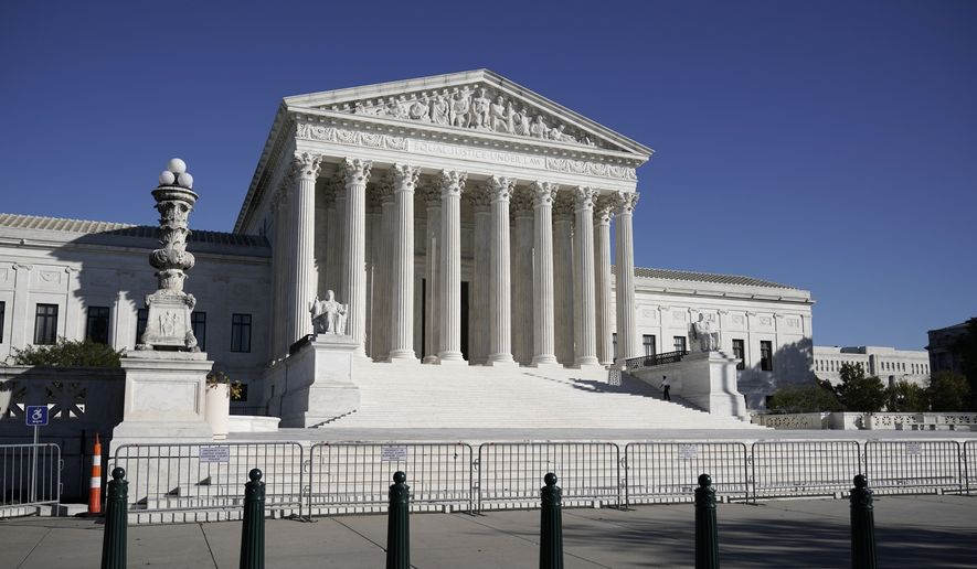 In this Nov. 4, 2020, photo, The Supreme Court in Washington is shown here. (AP Photo/J. Scott Applewhite) **FILE**
