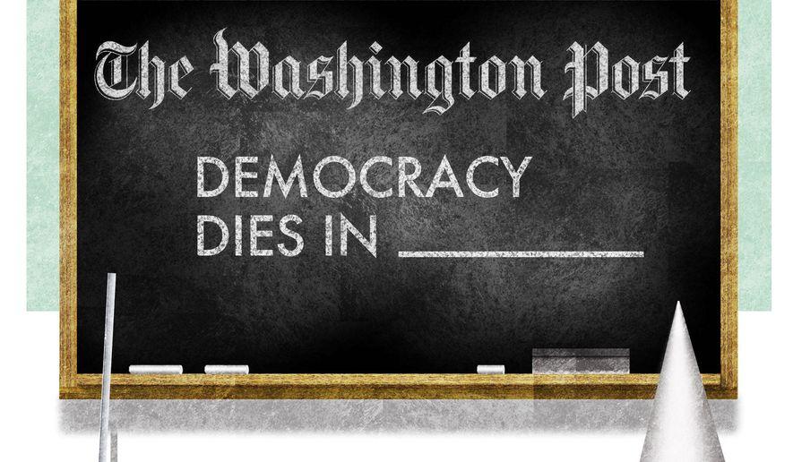 Illustration on The Washington Post by Alexander Hunter/The Washington Times