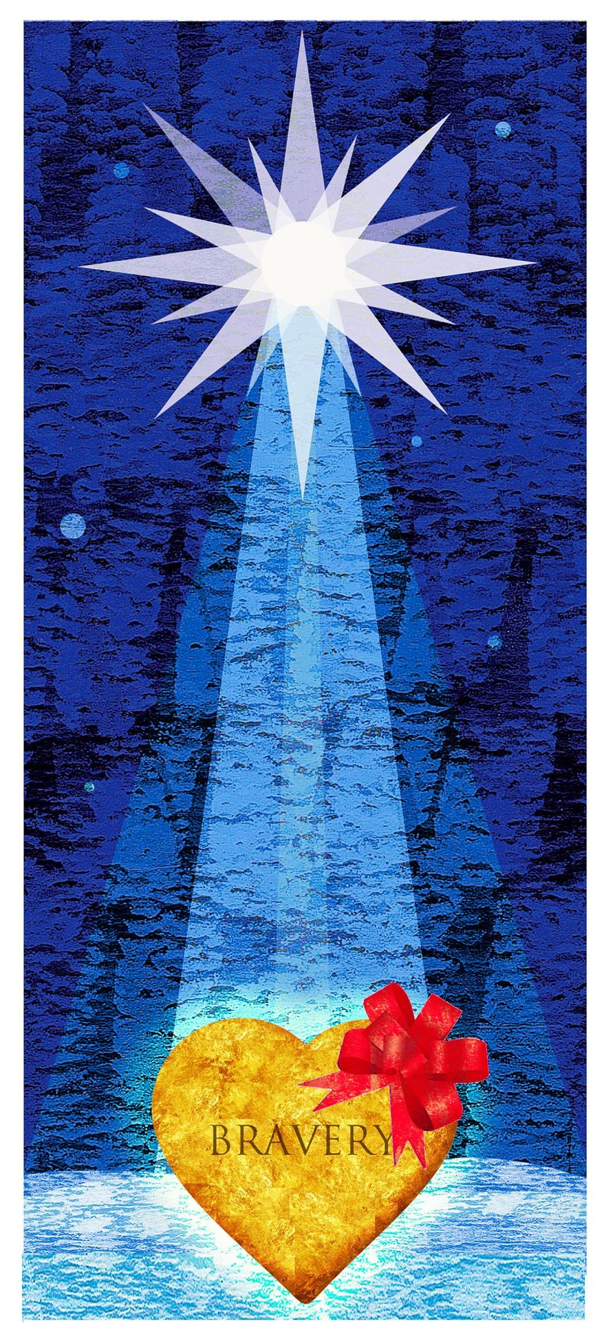 Illustration on the spirit of Christmas by Alexander Hunter/The Washington Times