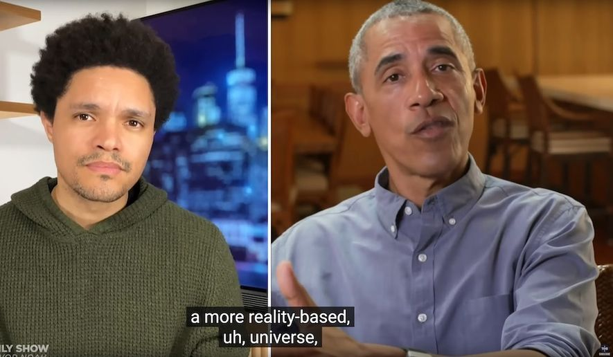 """Former President Obama discusses the health of the Republican Party on Comedy Central's """"The Daily Show,"""" Dec. 15, 2020. (Image: Comedy Central, """"The Daily Show with Trevor Noah"""" video screenshot)"""