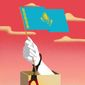 Illustration on the Kazakh elections by Linas Garsys/The Washington Times