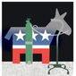 Illustration on the aging Democratic leadership by Alexander Hunter/The Washington Times