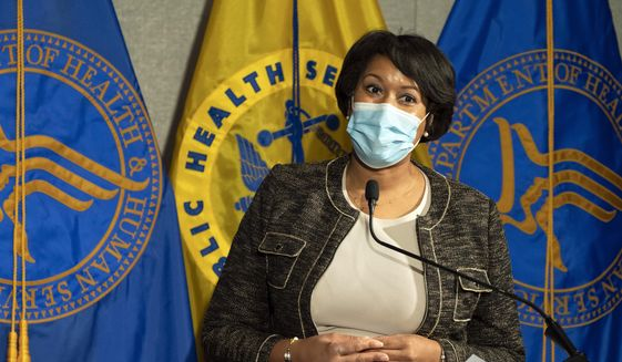 District of Columbia Mayor Muriel Bowser speaks during a news conference about the COVID-19 vaccine with Health and Human Services Secretary Alex Azar and Surgeon General Jerome Adams at George Washington University Hospital, Monday, Dec. 14, 2020, in Washington. (AP Photo/Jacquelyn Martin, Pool) ** FILE **
