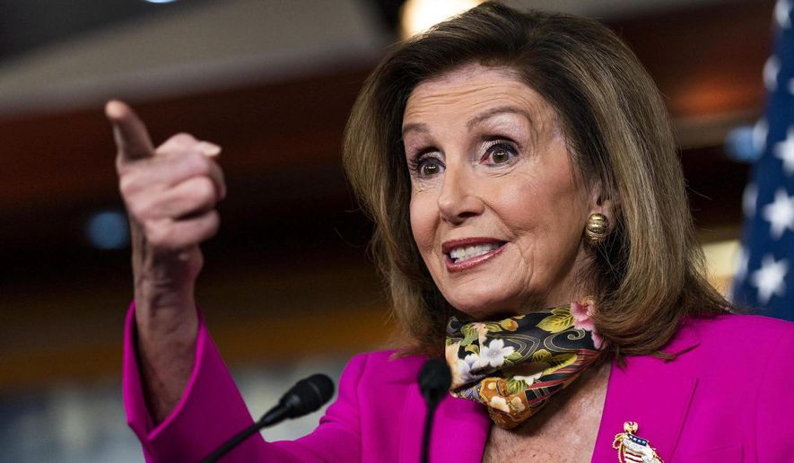 House Speaker Nancy Pelosi's support among voters. A majority in a poll said they oppose Mrs. Pelosi staying on as speaker. (Associated Press)