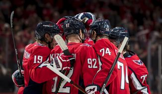 Capital One became the Washington Capitals' official helmet entitlement partner. (Photo via the Capitals)