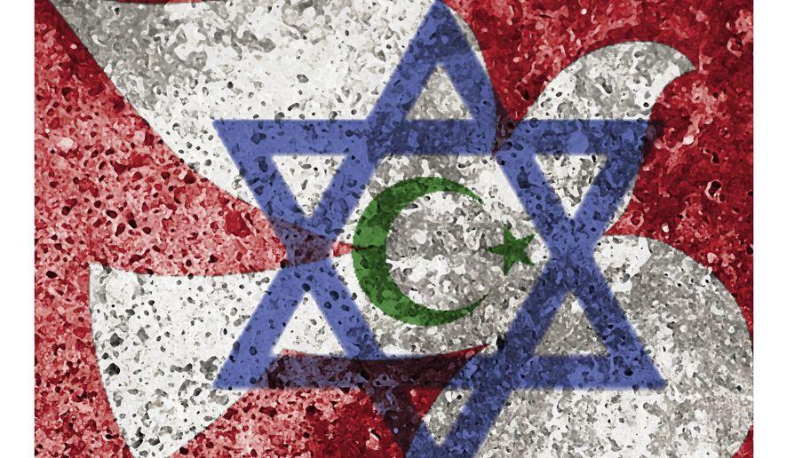 Illustration on Israeli arabs by Alexander Hunter/The Washington Times