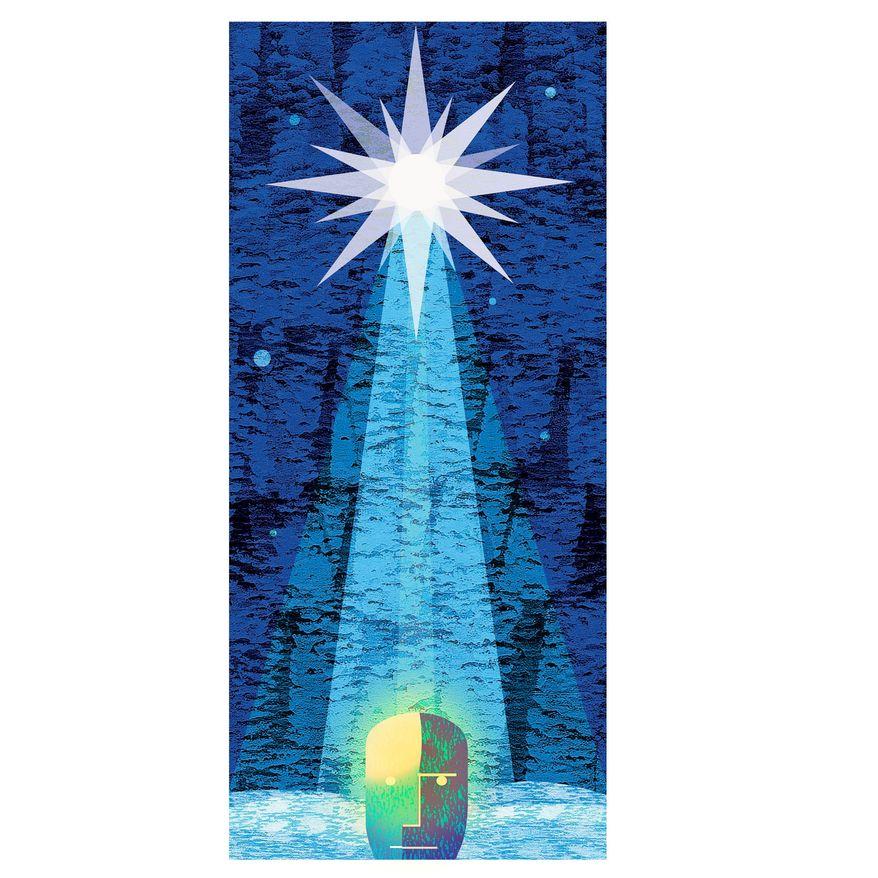Illustration on the impact of Christmas by Alexander Hunter/The Washington Times
