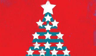 Illustration on gratitude for Christmas by Linas Garsys/The Washington Times