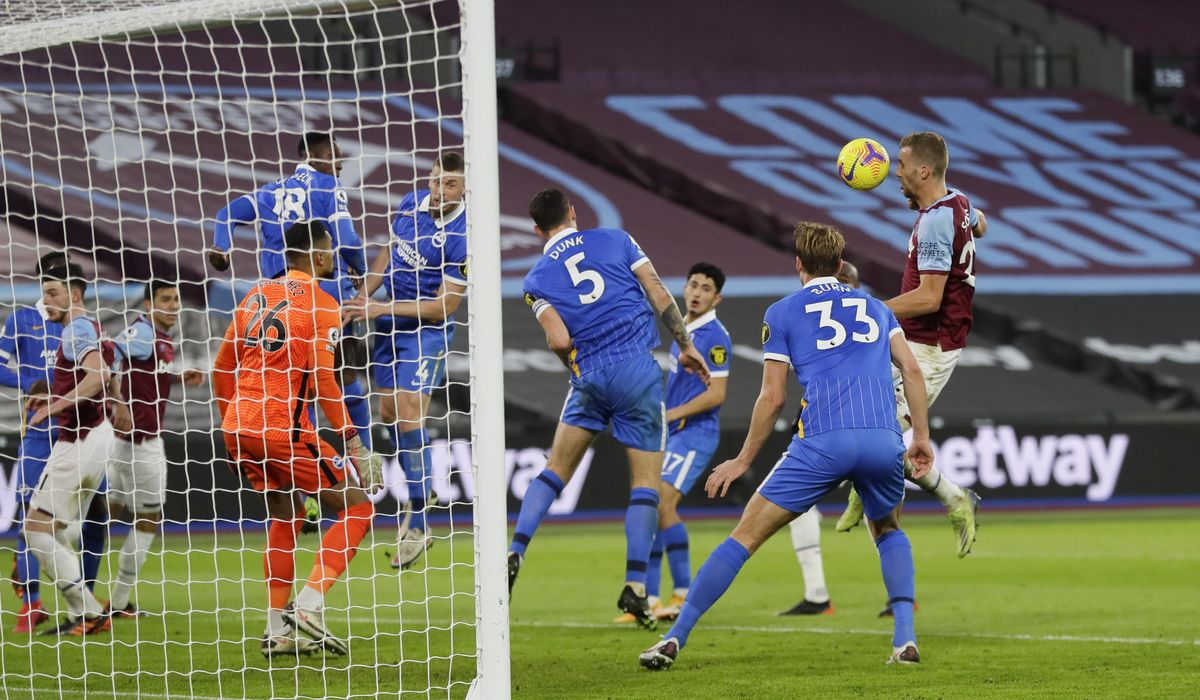 West Ham Comes From Behind Twice Draws 2 2 With Brighton Tomas Soucek Scored For The Third Time In His Last Five Premier League Games To Earn West Ham A 2 2 Draw Against