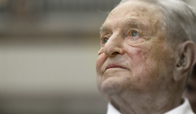 George Soros, founder and chairman of the Open Society Foundations, looks before the Joseph A. Schumpeter award ceremony in Vienna, Austria. (AP Photo/Ronald Zak, File) Photo edited for Best of 2020 list.