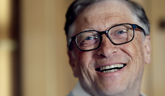 In this Feb. 1, 2019, file photo, Bill Gates smiles while being interviewed in Kirkland, Wash. (AP Photo/Elaine Thompson) ** FILE ** Photo edited for Best of 2020 list.