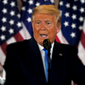 President Donald Trump speaks in the East Room of the White House, early Wednesday, Nov. 4, 2020, in Washington. (AP Photo/Evan Vucci)  Photo edited for Best of 2020 list.