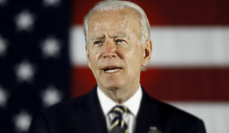 In this June 17, 2020, photo, Democratic presidential candidate, former Vice President Joe Biden speaks in Darby, Pa.  (AP Photo/Matt Slocum)  **FILE** Photo edited for Best of 2020 list.