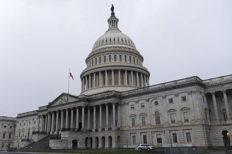 The U.S. Capitol is seen, Thursday, Dec. 24, 2020, in Washington. (AP Photo/Jacquelyn Martin)