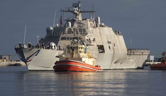 The littoral combat ships project has been bedeviled with engineering headaches since its inception. Now a newly revealed mechanical problem with the propulsion system could signal a potentially disastrous design flaw throughout the ships. (U.S. Navy photograph)