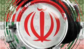Illustration on Iran by Linas Garsys/The Washington Times