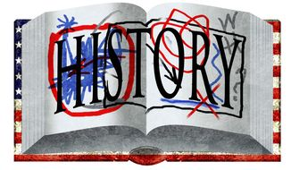 Illustration on messy history by Alexander Hunter/The Washington Times
