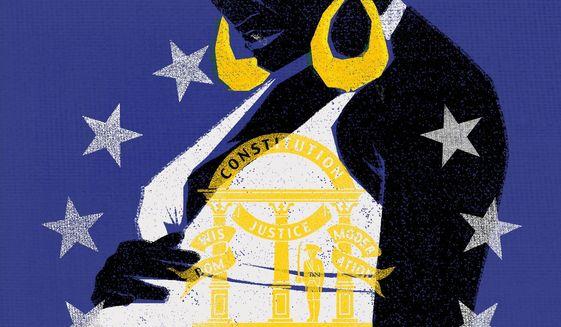 Illustration on the Georgia vote by Liknas Garsys/The Washington Times