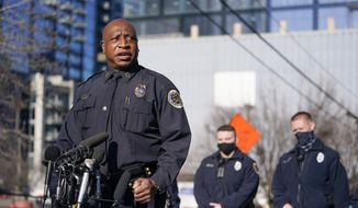 In this Sunday, Dec. 27, 2020, file photo, Metro Nashville Police Chief John Drake speaks at a news conference, in Nashville, Tenn. On Wednesday, Dec. 30, 2020, Drake said his officers properly handled a visit to the home of the Nashville bomber more than a year before they say he detonated an explosives-laden RV on Christmas Day in the city's downtown. (AP Photo/Mark Humphrey, File)