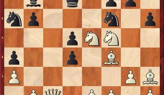 Dubov-Carlsen after 20. Nc6-e5.