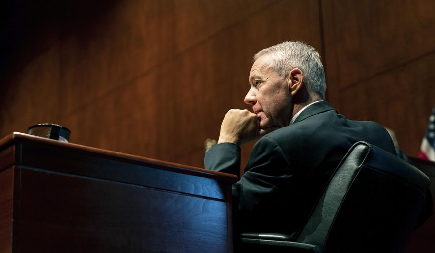 In this June 24, 2020, file photo, Rep. Ken Buck, R-Colo., listens during a hearing on Capitol Hill in Washington.  (Anna Moneymaker/The New York Times via AP, Pool, File)  **FILE**