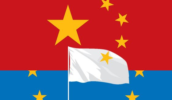 Illustration on China's influence on Europe by Linas Garsys\The Washington Times