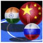 Illustration on tensions between India and Russia over China by l Hunter/The Washington Times