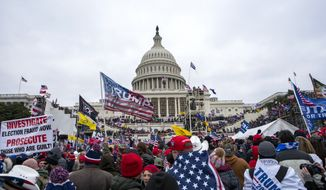 Supporters of President Donald Trump rally at the U.S. Capitol on Wednesday, Jan. 6, 2021, in Washington. (AP Photo/Jose Luis Magana) **FILE**