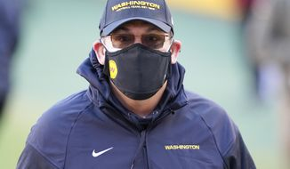 Washington Football Team head coach Ron Rivera before the start of an NFL football game against the Carolina Panthers and Washington Football Team, Sunday, Dec. 27, 2020, in Landover, Md. (AP Photo/Susan Walsh)