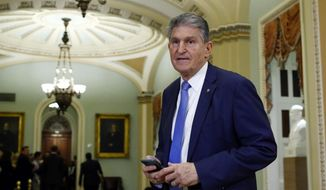 Sen. Joe Manchin III, West Virginia Democrat, is one of the moderate lawmakers who will likely have a lot of influence in the new Congress. (Associated Press)