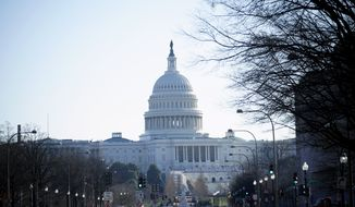 The U.S. Capitol is seen the day after violent protesters loyal to President Donald Trump stormed the U.S. Congress, Thursday, Jan. 7, 2021, in Washington. (AP Photo/Matt Slocum)