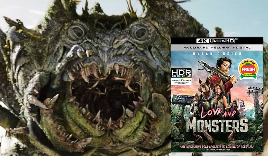 "A mutated crab co-stars in ""Love and Monsters,"" now available on 4K Ultra HD from Paramount Home Entertainment."