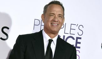 In this Wednesday, Jan. 18, 2017, file photo, Tom Hanks arrives at the People's Choice Awards at the Microsoft Theater in Los Angeles. (Photo by Jordan Strauss/Invision/AP, File)