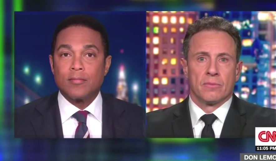 "CNN'S Don Lemon says President Trump supporters are in a ""crowd"" of Nazis and KKK supporters, Jan. 13, 2021. (Image: CNN video screenshot)"