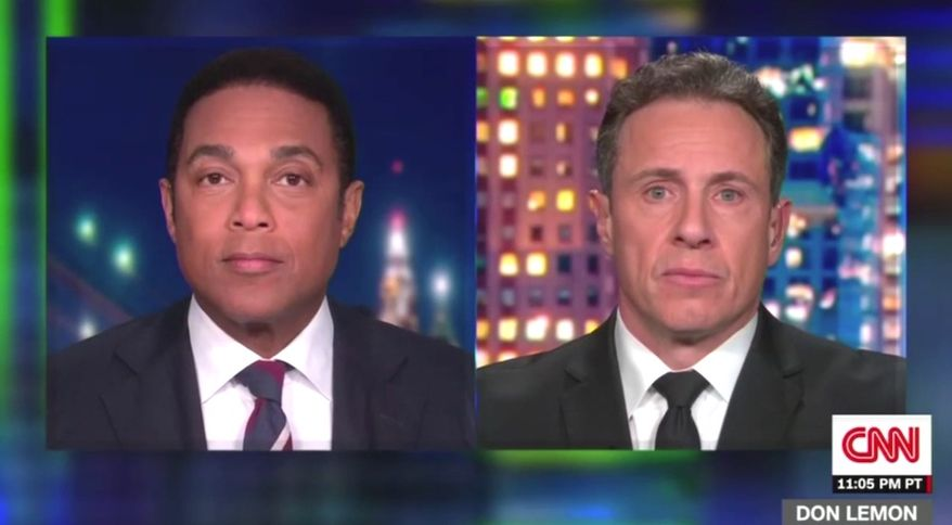 """CNN'S Don Lemon says President Trump supporters are in a """"crowd"""" of Nazis and KKK supporters, Jan. 13, 2021. (Image: CNN video screenshot)"""