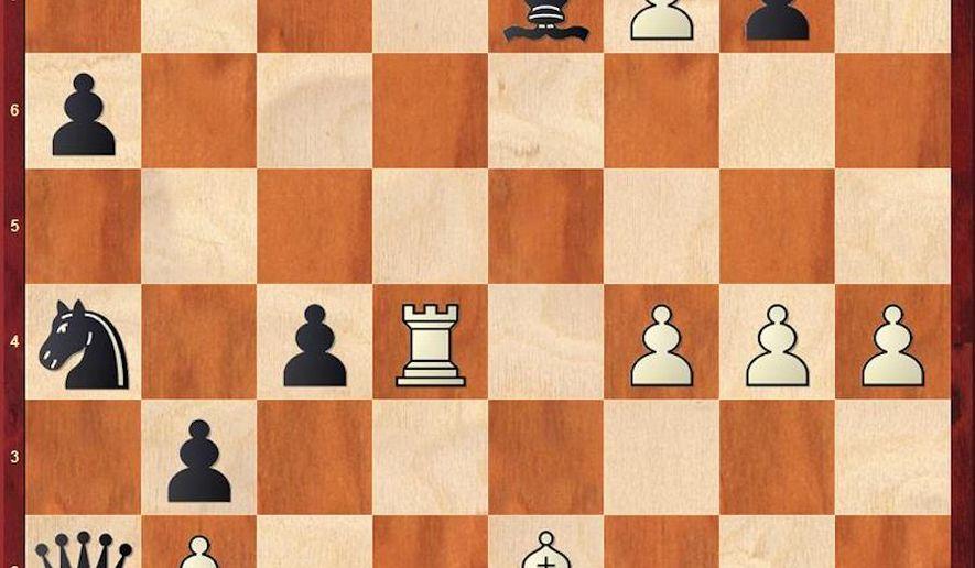 Donchenko-Caruana after 26. Qb1.