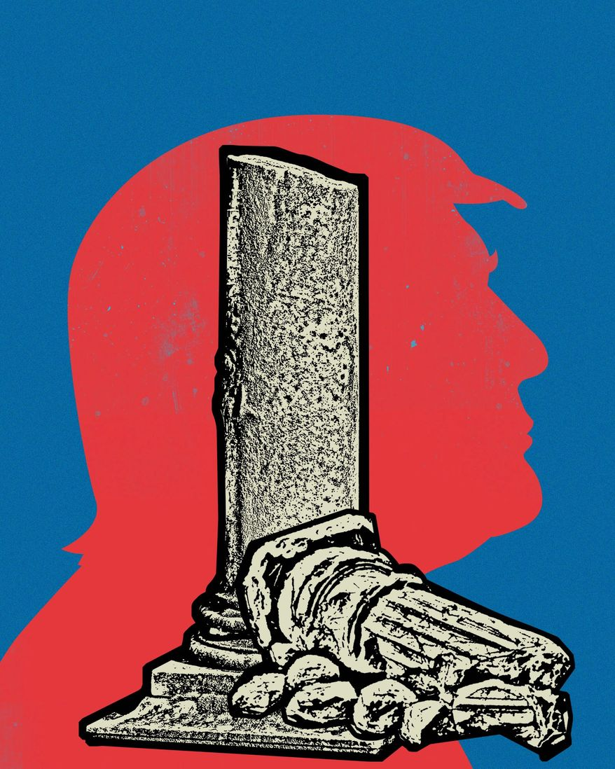 Trump  illustration by The Washington Times