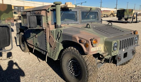 Photo of the humvee for the California National Guard.